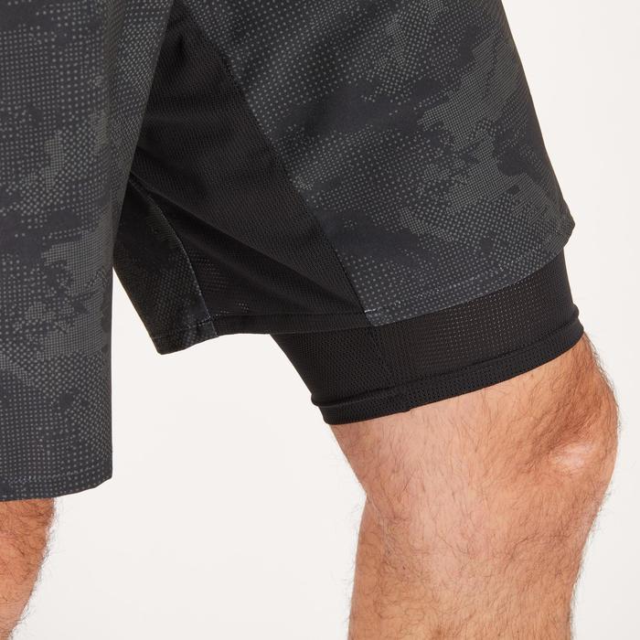 Short fitness cardio homme noir kaki FST520 - 1271133