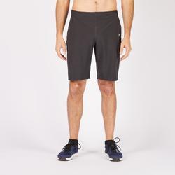 Pantalón Corto chándal Fitness Cardio Domyos Hombre Negro FST900