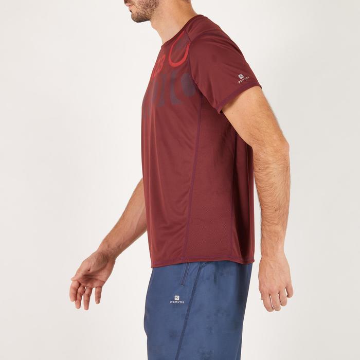 T-shirt fitness cardio homme noir imprimé FTS 120 - 1271159