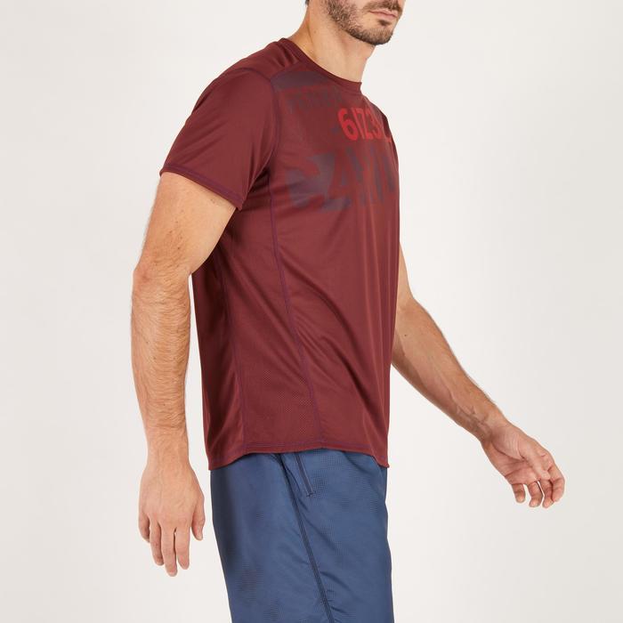 T-shirt fitness cardio homme noir imprimé FTS 120 - 1271162