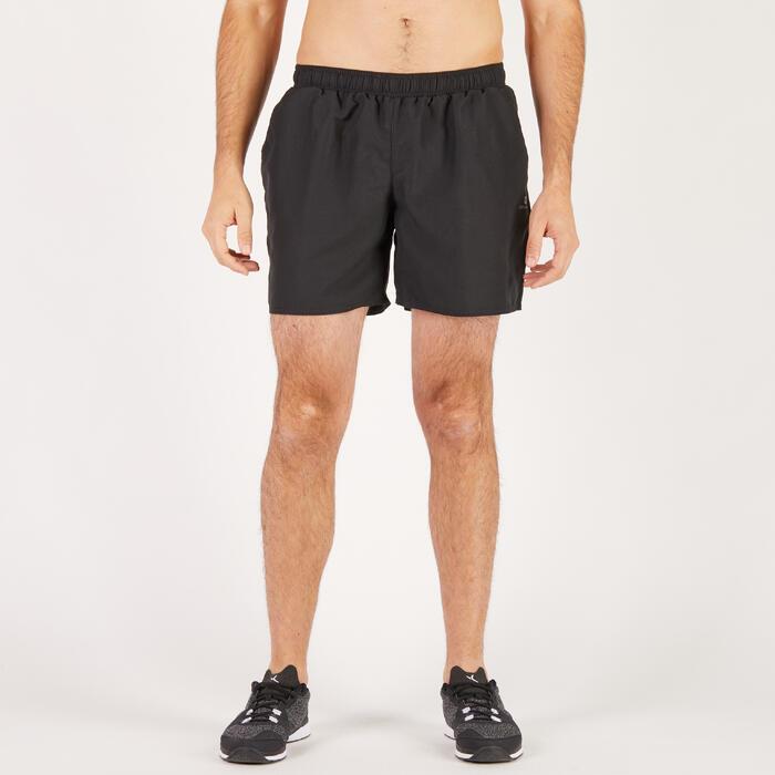 Pantalón Corto Chándal Fitnes Cardio Domyos Hombre Negro FST100