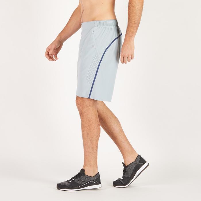 Short fitness cardio hombre GRIS CLARO FST900