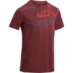 Fitness T-shirt FTS120 voor heren, voor cardiotraining opdruk