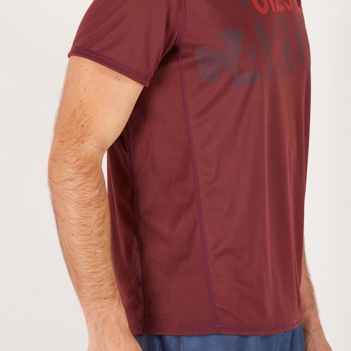 T-shirt fitness cardio homme noir imprimé FTS 120 - 1271247