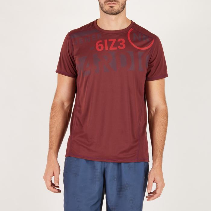T-shirt fitness cardio homme noir imprimé FTS 120 - 1271258