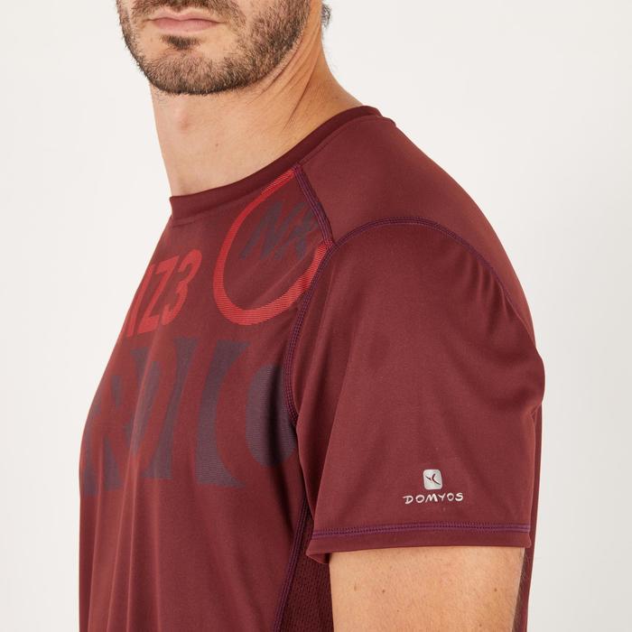 T-shirt fitness cardio homme noir imprimé FTS 120 - 1271278
