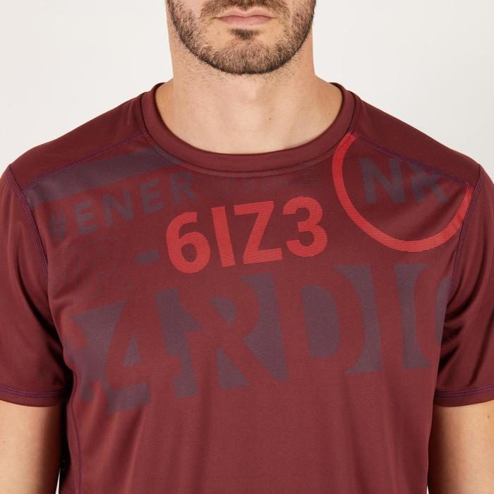 T-shirt fitness cardio homme noir imprimé FTS 120 - 1271282