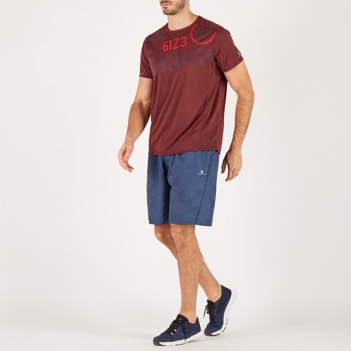 T-shirt fitness cardio homme noir imprimé FTS 120 - 1271290