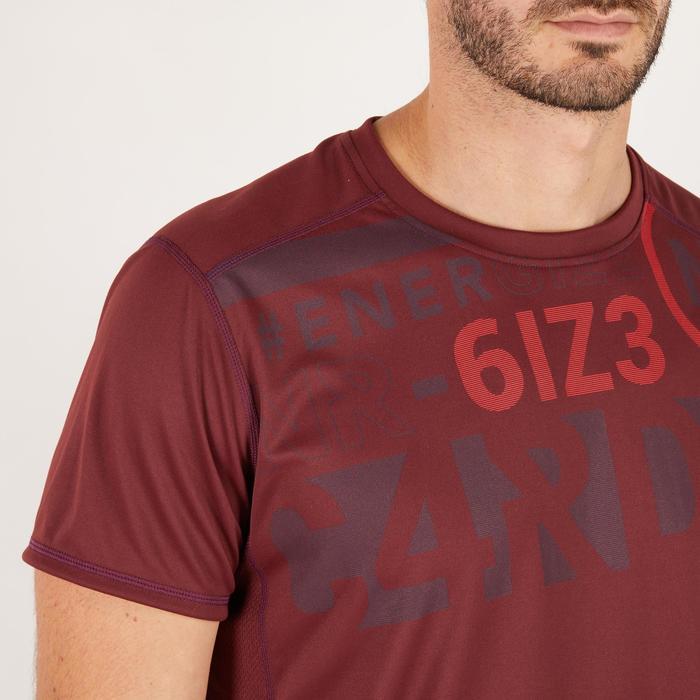 T-shirt fitness cardio homme noir imprimé FTS 120 - 1271297