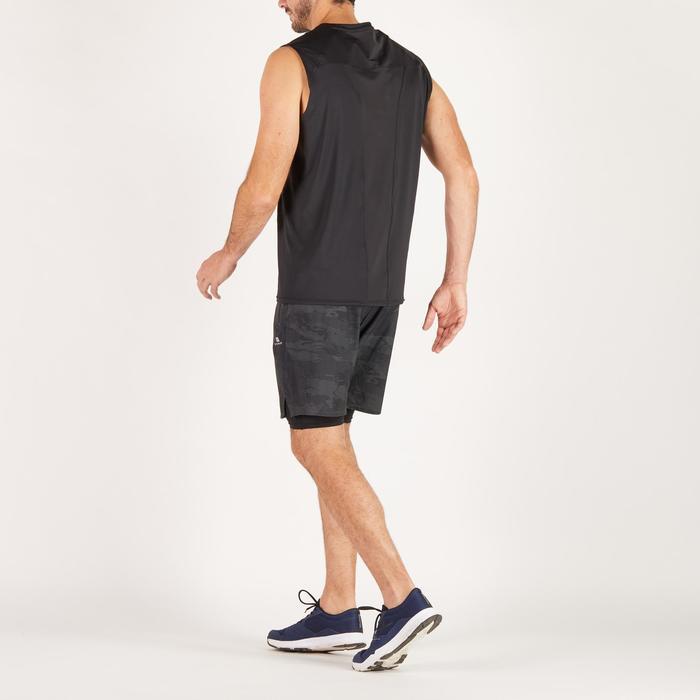 Short fitness cardio homme noir kaki FST520 - 1271303