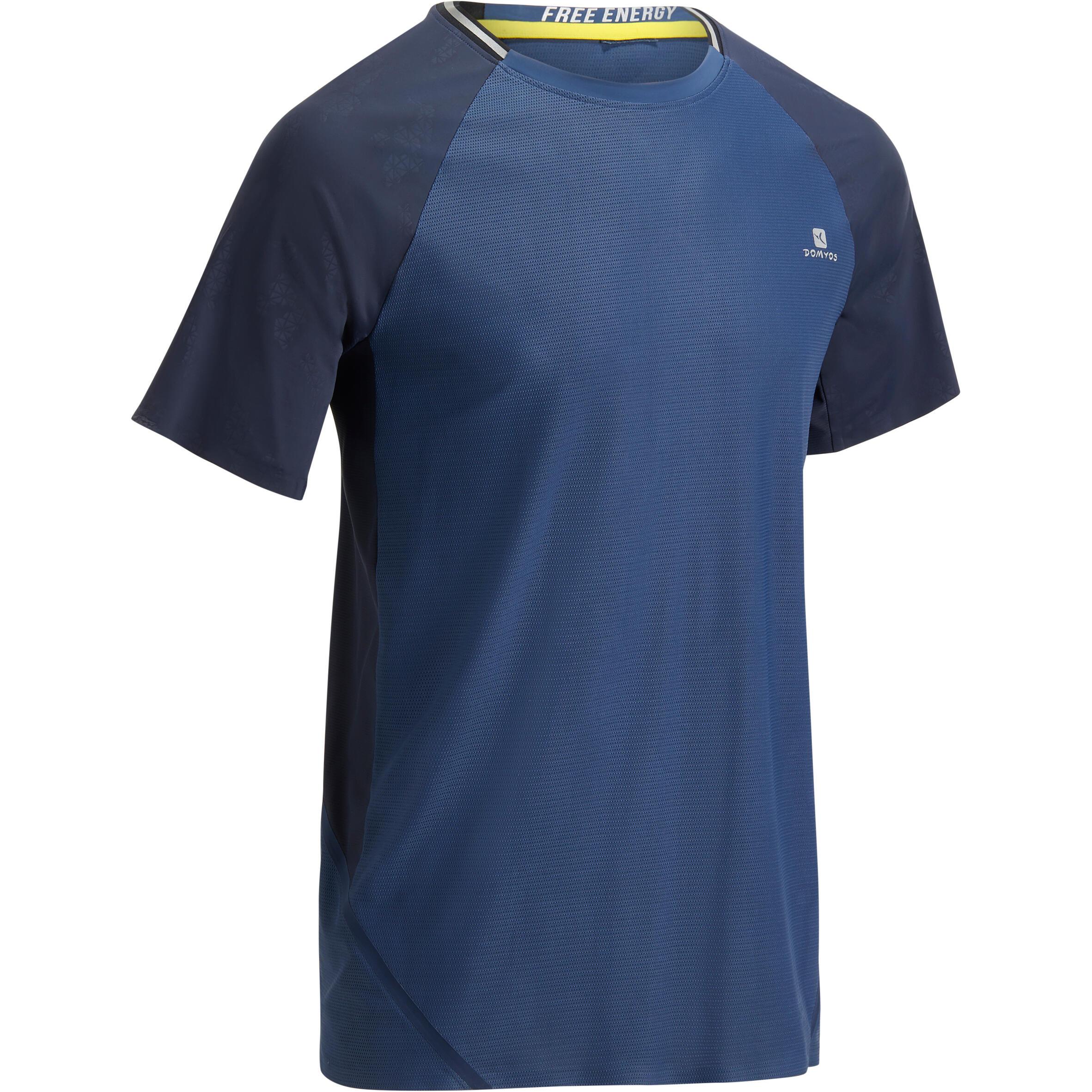 Domyos T-shirt fitness cardio heren lichtgrijs FTS920
