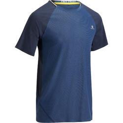 T-shirt fitness cardio heren lichtgrijs FTS920