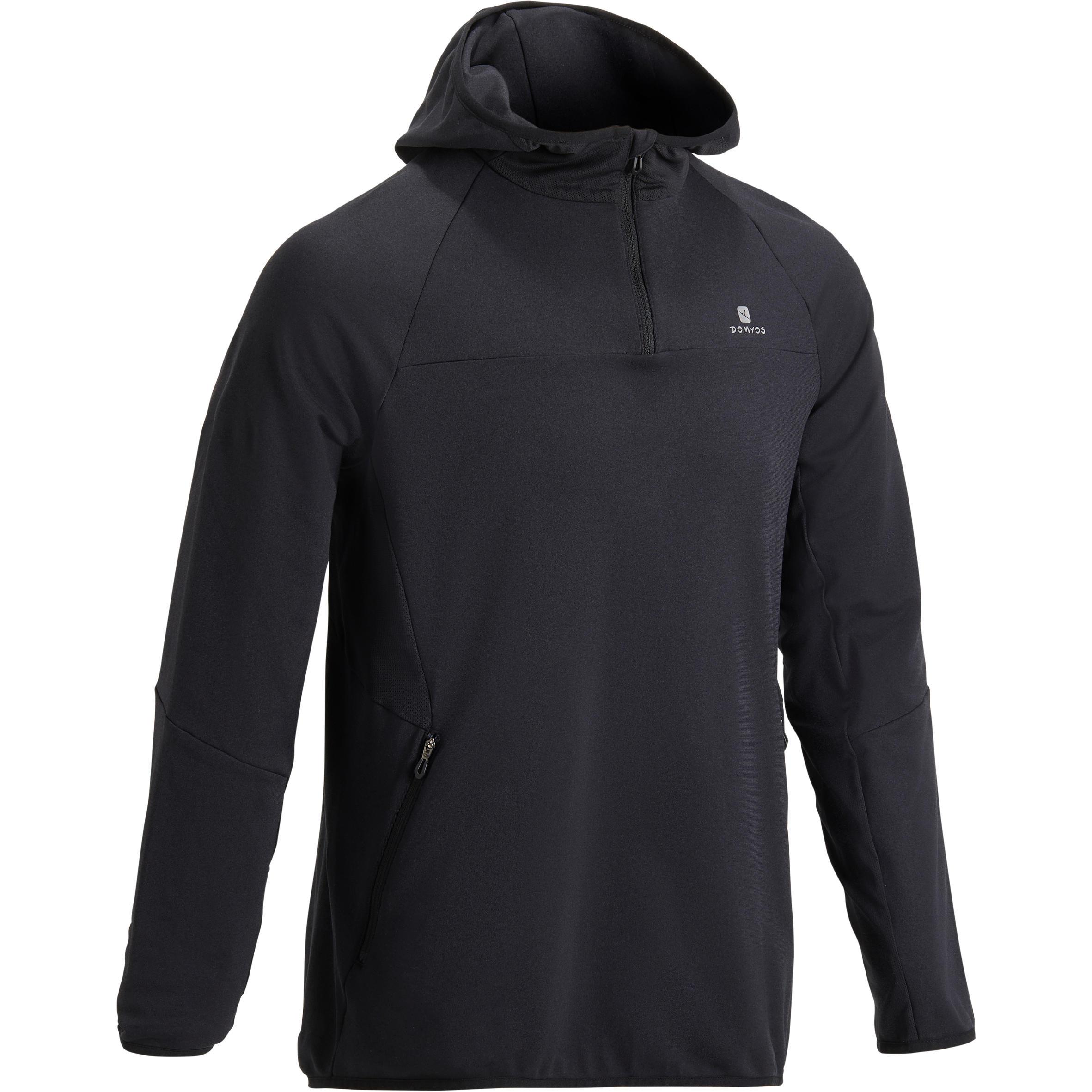 Domyos Sweater fitness-cardio FSW500 heren zwart