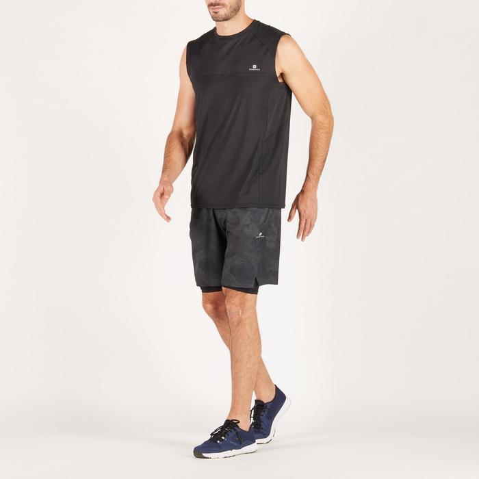 Short fitness cardio homme noir kaki FST520 - 1271367