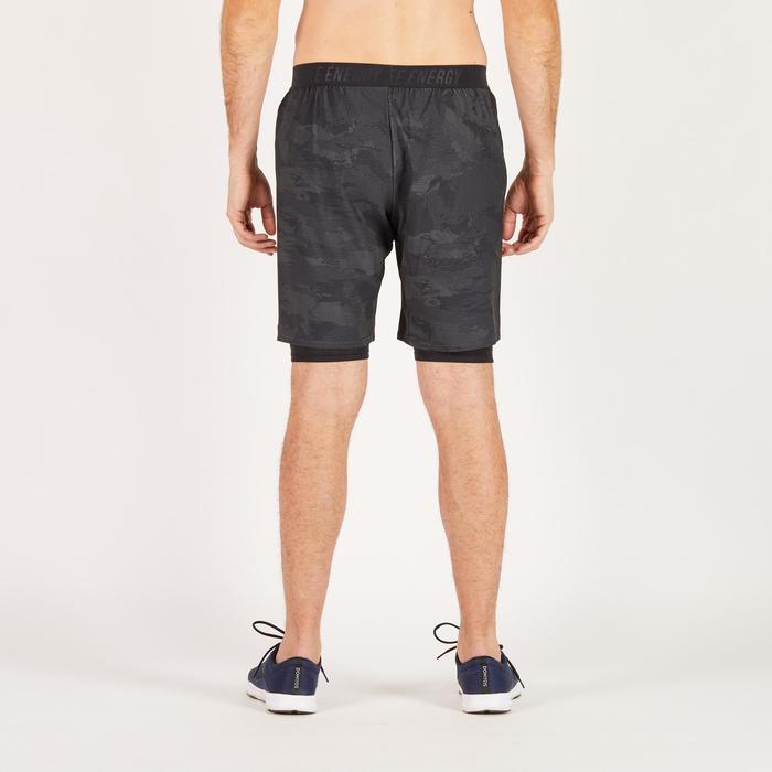 Short fitness cardio homme noir kaki FST520 - 1271390