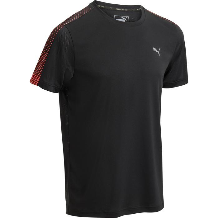T-shirt PUMA fitness cardio homme noir rouge E2 - 1271412