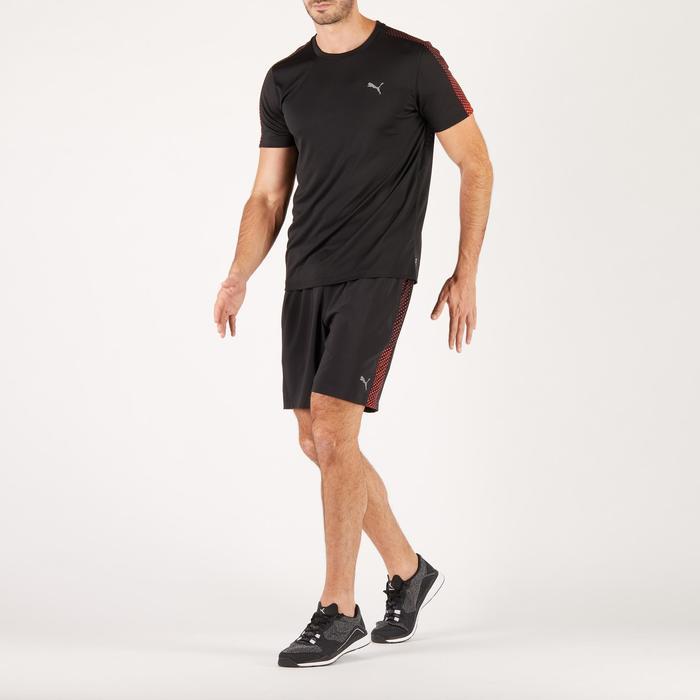 T-shirt PUMA fitness cardio homme noir rouge E2 - 1271416