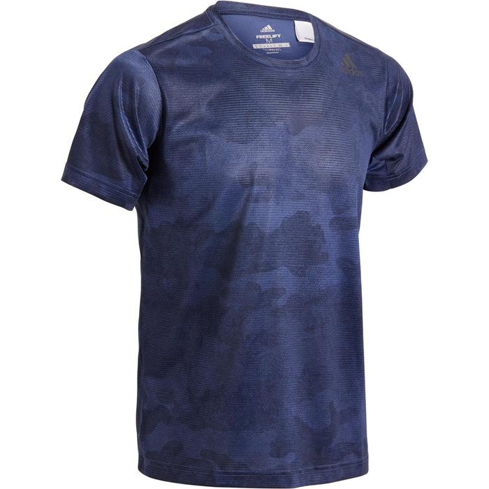 T-shirt ADIDAS freelift bleu - 1271419