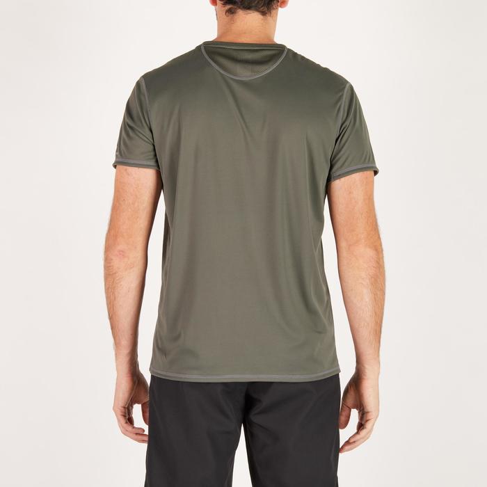T-shirt fitness cardio homme noir imprimé FTS 120 - 1271424