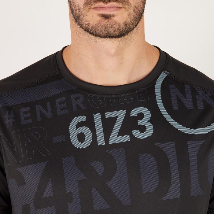T-shirt fitness cardio homme noir imprimé FTS 120 - 1271440