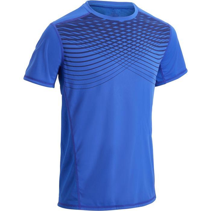 T-shirt fitness cardio homme noir imprimé FTS 120 - 1271444