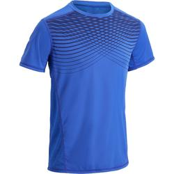 Fitness T-shirt FTS120 voor heren, voor cardiotraining, blauw opdruk nr. 2
