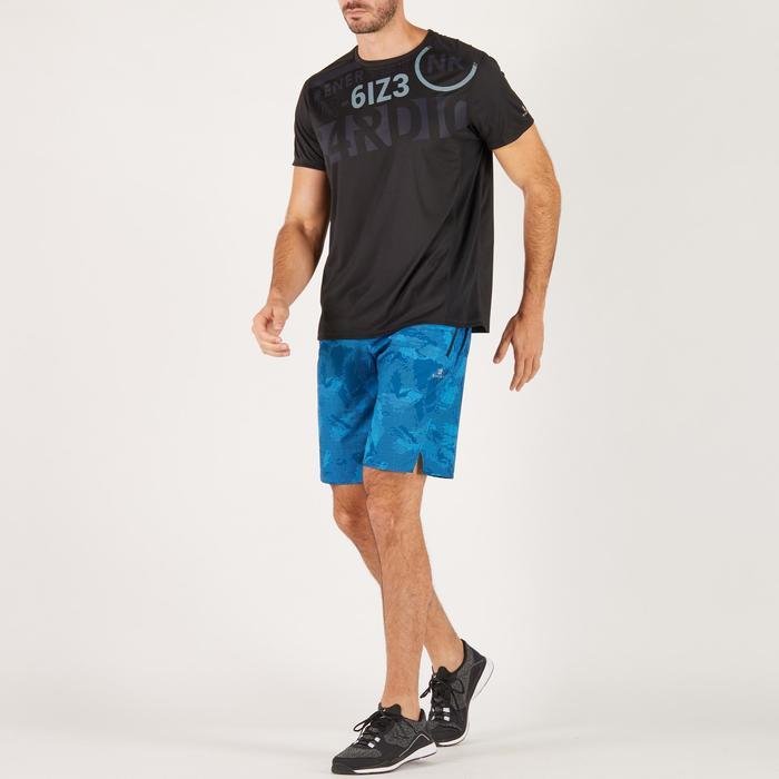 T-shirt fitness cardio homme noir imprimé FTS 120 - 1271446