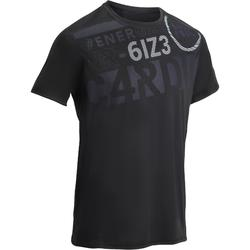 FTS120 Fitness Cardio T-Shirt - Printed Black