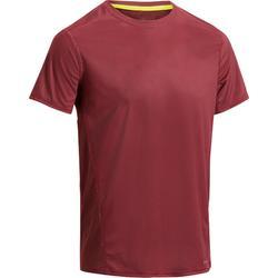 Fitness T-shirt FTS120 voor heren, voor cardiotraining, bordeaux