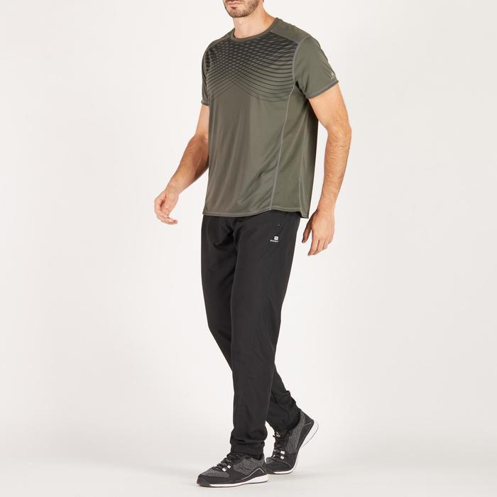 T-shirt fitness cardio homme noir imprimé FTS 120 - 1271472