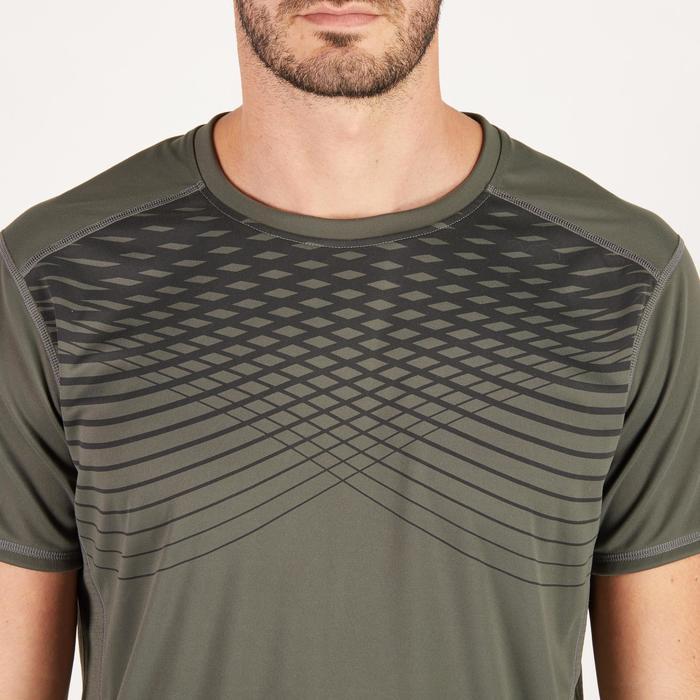 T-shirt fitness cardio homme noir imprimé FTS 120 - 1271511