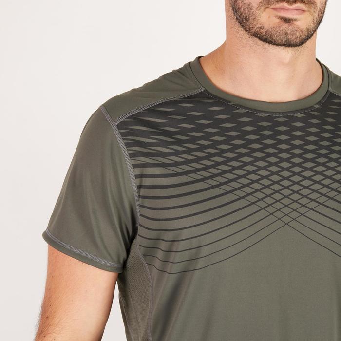 T-shirt fitness cardio homme noir imprimé FTS 120 - 1271521