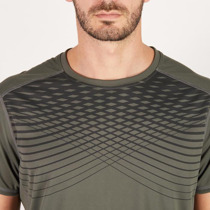 T-shirt fitness cardio homme noir imprimé FTS 120 - 1271535