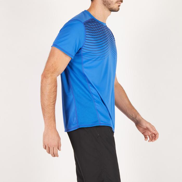 T-shirt fitness cardio homme noir imprimé FTS 120 - 1271537