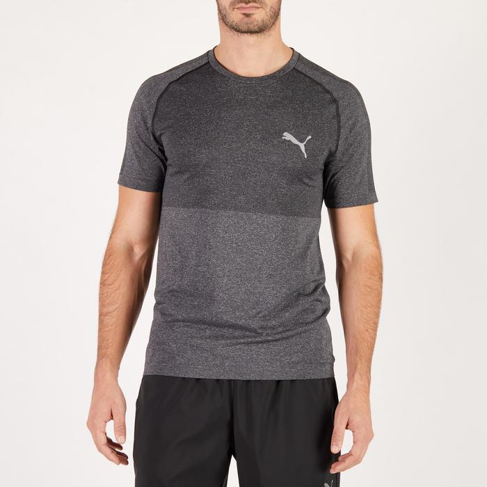 T-shirt PUMA fitness cardio homme Evoknit gris - 1271543