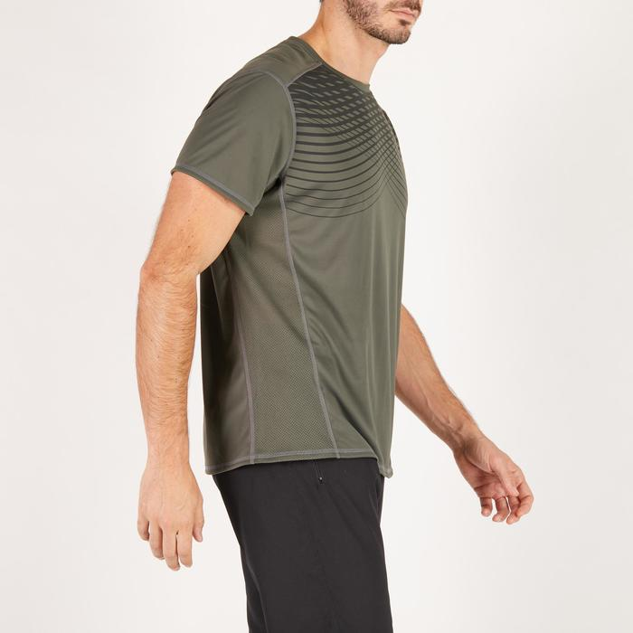 T-shirt fitness cardio homme noir imprimé FTS 120 - 1271551