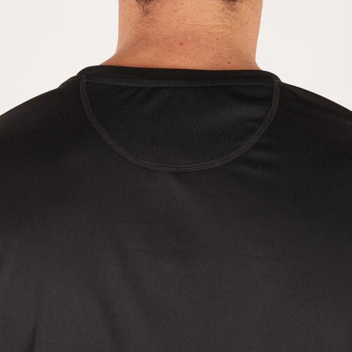 T-shirt fitness cardio homme noir imprimé FTS 120 - 1271554