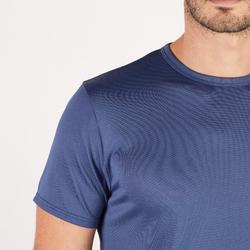 T-Shirt 100 Fitness Cardio Herren navy