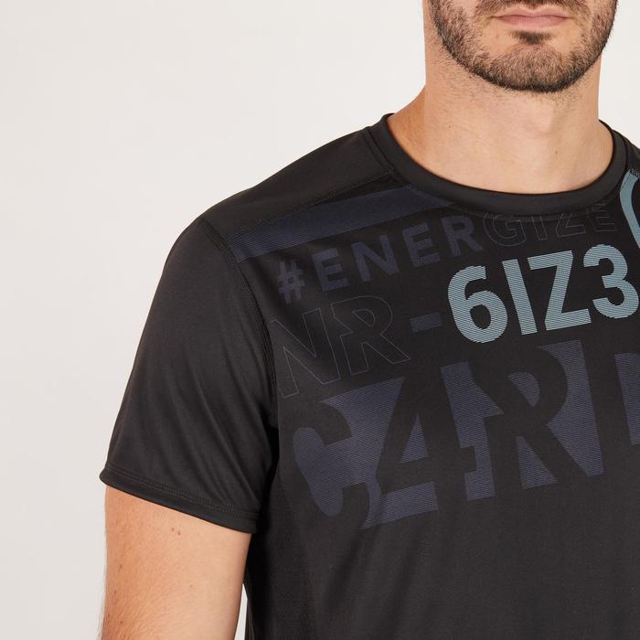 T-shirt fitness cardio homme noir imprimé FTS 120 - 1271582