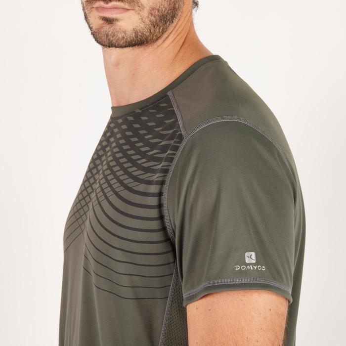 T-shirt fitness cardio homme noir imprimé FTS 120 - 1271584