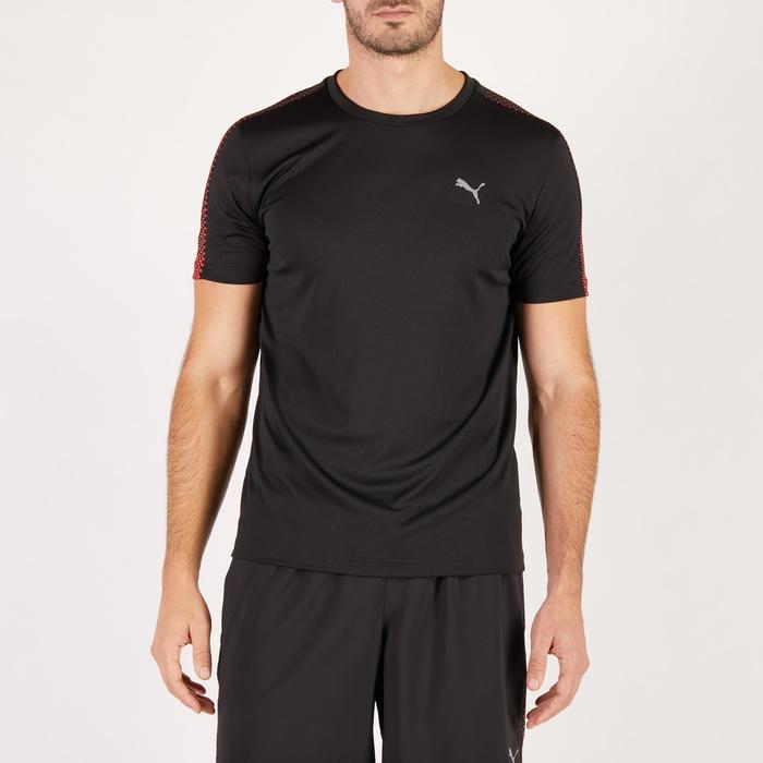 T-shirt PUMA fitness cardio homme noir rouge E2 - 1271591