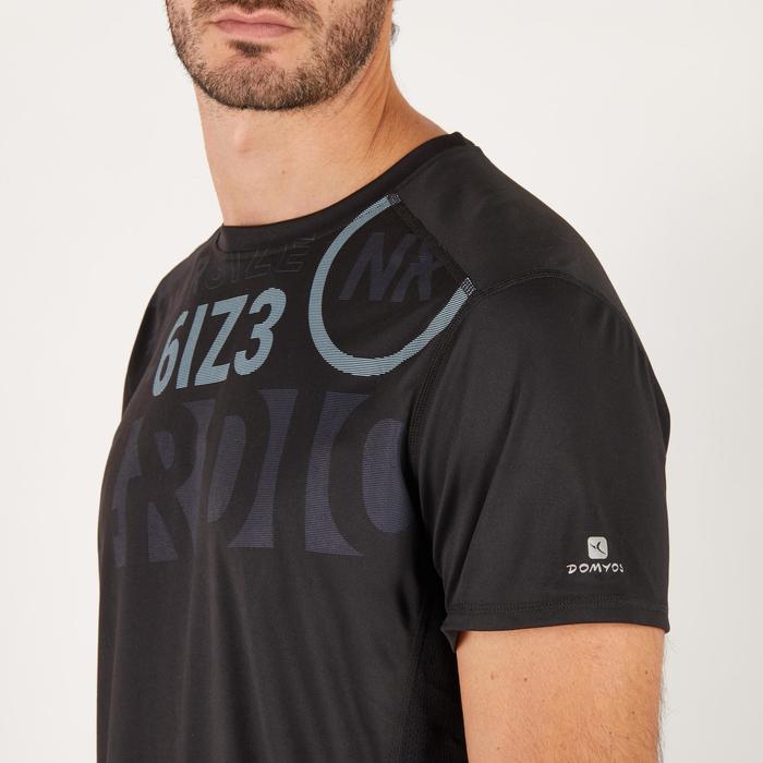 T-shirt fitness cardio homme noir imprimé FTS 120 - 1271604