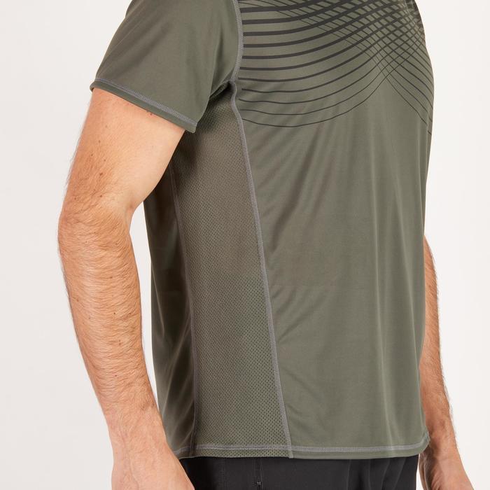 T-shirt fitness cardio homme noir imprimé FTS 120 - 1271607