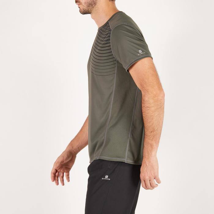 T-shirt fitness cardio homme noir imprimé FTS 120 - 1271608