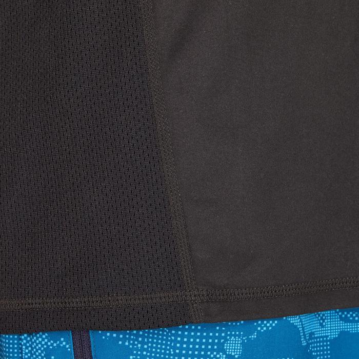 T-shirt fitness cardio homme noir imprimé FTS 120 - 1271619