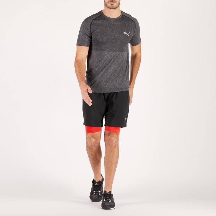 T-shirt PUMA fitness cardio homme Evoknit gris - 1271627