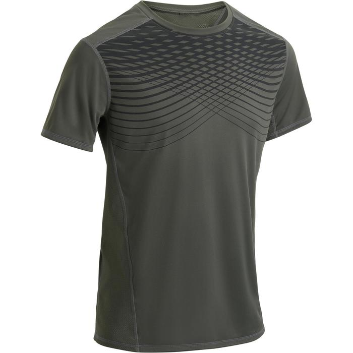 T-shirt fitness cardio homme noir imprimé FTS 120 - 1271636