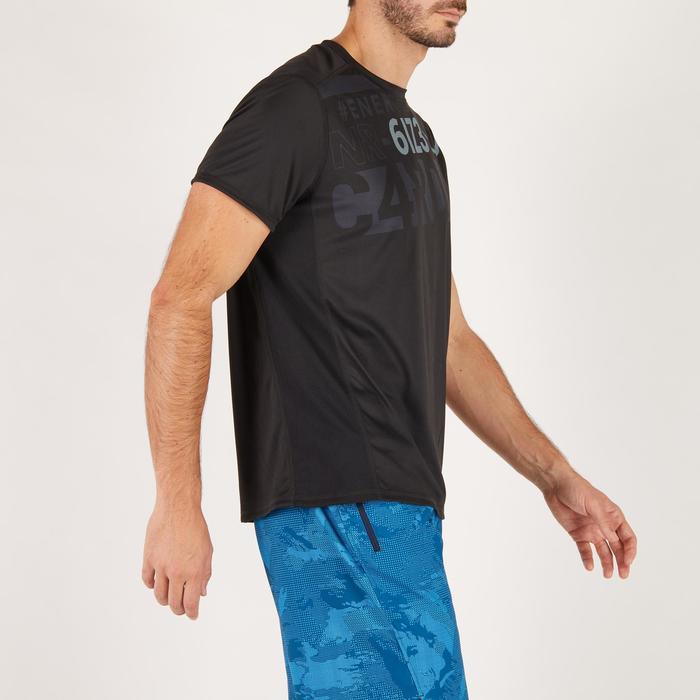 T-shirt fitness cardio homme noir imprimé FTS 120 - 1271638