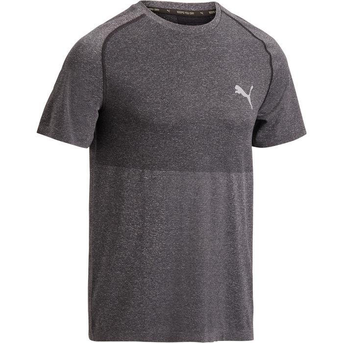 T-shirt PUMA fitness cardio homme Evoknit gris - 1271646