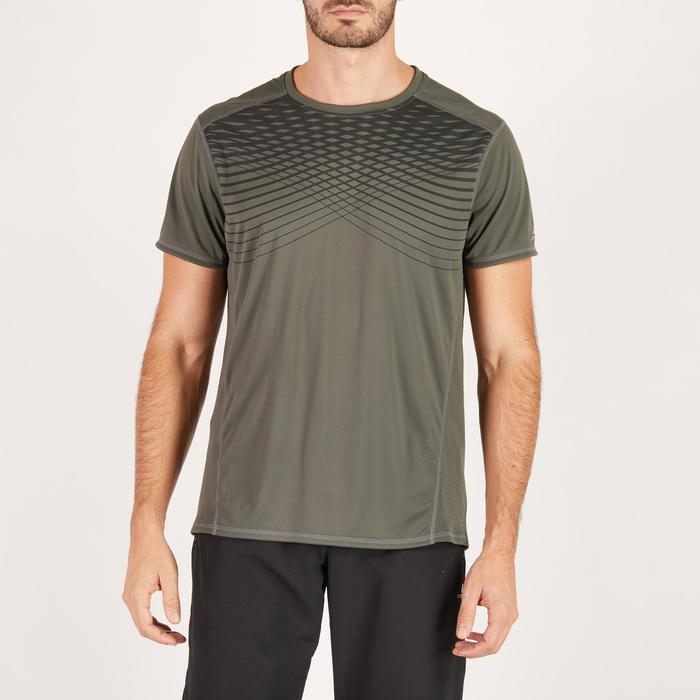 T-shirt fitness cardio homme noir imprimé FTS 120 - 1271653